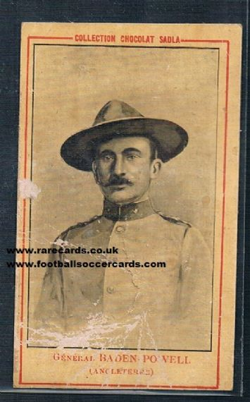 1900 Sadla Baden Powell trade card